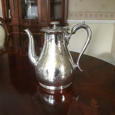 Stunning Antique Coffee Pot by Walker & Hall of Sheffield - A1 Silver Plate