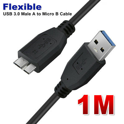 0.5M/1M Flexible USB 3.0 Male A to Micro B Hard Drive Cable For