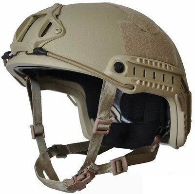 High Cut (Special Forces) TAN  LVL IIIA Ballistic KEVLAR Helmet- -