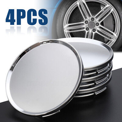4Pcs Universal 63mm Car Wheel Center Hubs Caps Covers NO Badge Emblem Silver