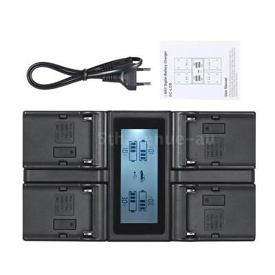 NP-F970 4Channel Camera Battery Charger LCD for SONY NP-F550 F750 F950 FM50 QM71