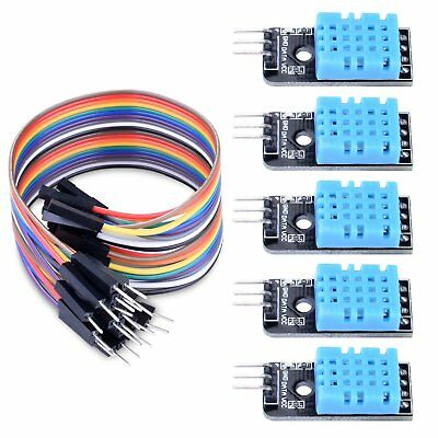 Longruner 5 PCS Temperature Humidity Sensor Module DHT11 with 20PIN Male to Jump
