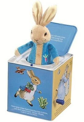 NEW Peter Rabbit Musical Jack in the Box Beatrix Potter *FREE SHIPPING*