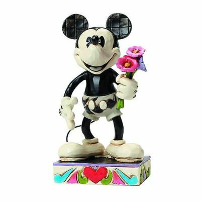 Figure Disney Traditions Black & White And Statua Mickey Mouse Topolino Resina 2