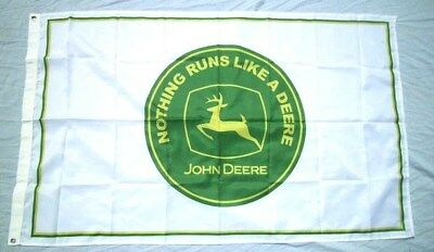 John Deere Tractor 3' X 5' Polyester Flag Banner Man Cave NEW # 70