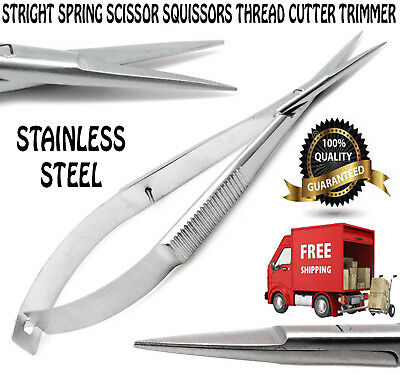 Straight Spring Thread CutterTrimmer Squissors Sewing Embroidery Craft Scissors