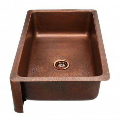 sink Rounded Apron Front Farmhouse Kitchen Bowl moroccan Copper-hand hammere