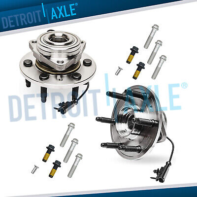 4WD Front Wheel Bearings + Hub Bolts 2008 2009 2010-2013 Chevy Silverado 1500