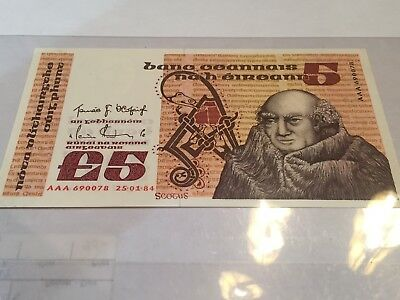 Ireland 5 Pounds 1984 Replacement AAA - UNC