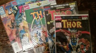 NICE VINTAGE 80s Thor comic lot annuals