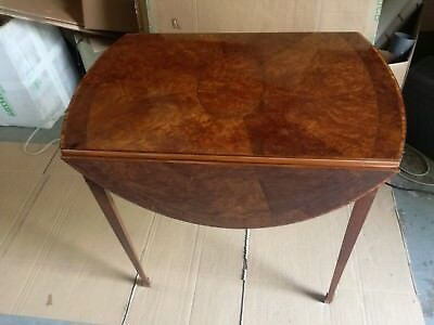 Table strips louis XVI two drawers small table briar rosewood oval fore