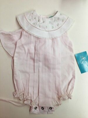 Vintage New With Tags Alison Scott Girls One Piece With Bonnet Size 9 Months