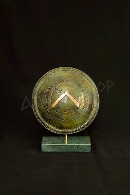 Ancient Greek Bronze  Spartan Shield Of King Leonidas (Small Size)