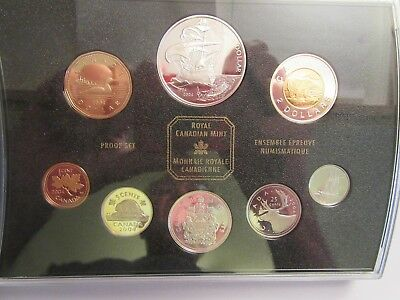 2004 Canada Silver Proof set, 400th anniversary 1st French Settlement in N. A.