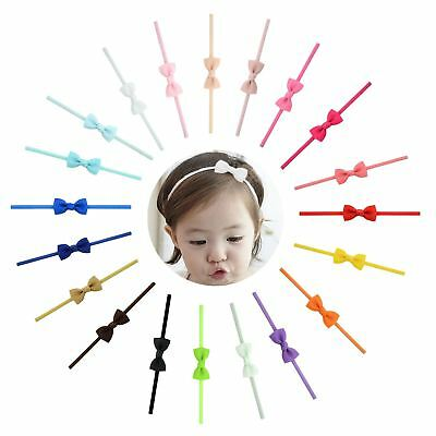 20 PCS/Lot Grosgrain Baby Girl Infant Toddlers Kids Hair Bow Headbands Bands Acc