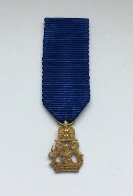 Miniature Gold RARE Order of Westphalia Knight Cross Germany Ordre Médaille