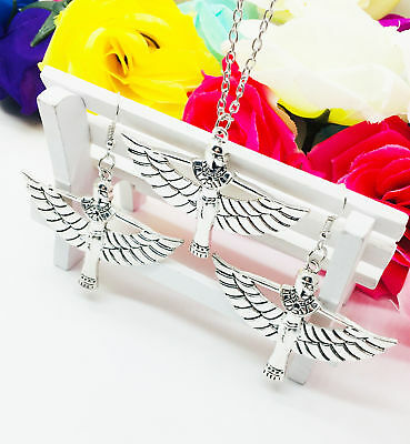 1 set CHARM Egypt Egyptian Queen Silver Pendant Jewellery Necklace Earring
