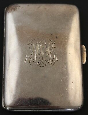 Antique William Neale Monogrammed Sterling Silver 925 Card Case