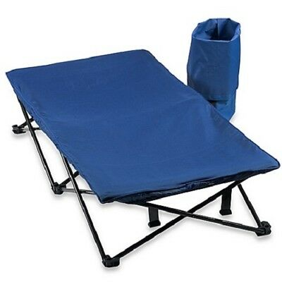 Regalo My Cot Portable Folding Toddler Travel Bed with Travel Bag, Blue
