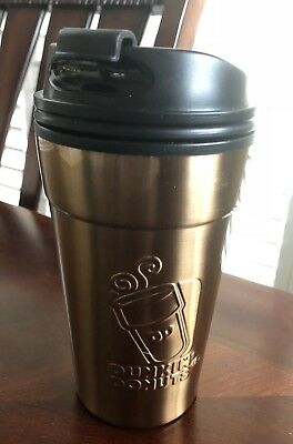DUNKIN DONUTS 14ozs iconic SS gold tumbler $18