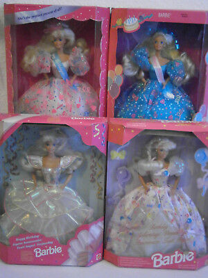 Barbie Birthday 4er-Kollektion 1993 bis 1996 *NRFB*