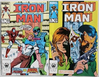 IRON MAN #202 and #203 - 1986 - NM