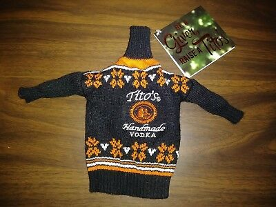 Tito's Handmade Vodka Ugly Sweater Bottle Cover From 1 Liter Bottle New w/ Tags