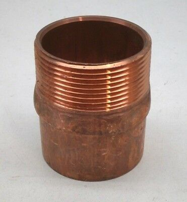 "2-1/2"" Threaded Male Copper Pipe Adapter Fitting MIPT 2.5"" MIP x C"