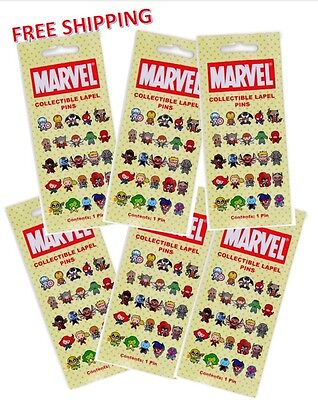 Marvel Collectible Lapel Pin Blind Bag. Buy 2 get 1 free.  Buy 4 get 3 free!