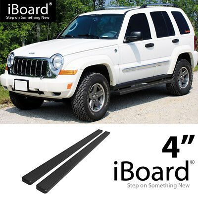 Running Board Side Step Nerf Bars 5in Black Fit Jeep Commander 06-11
