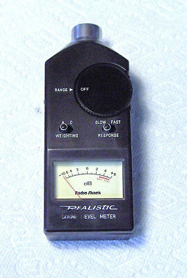 Realistic Sound Level Meter.  Has very little use.