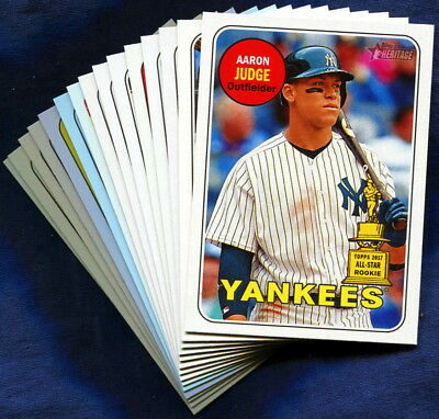 2018 Topps Heritage New York Yankees Baseball Card Your Choice You Pick