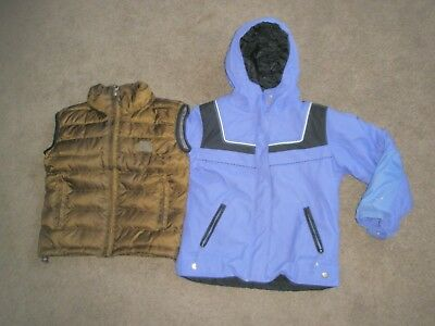 Kids Boys Girls The North Face Down Vest Jacket & Columbia Coat Size 6 - Medium