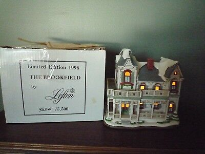 Lefton Colonial Christmas Village -  Brookfield  With Box, Light, Deed, Coa