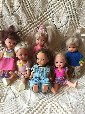 Large Collection Job Lot Of Vintage Small Dolls Mattel Simba And Others