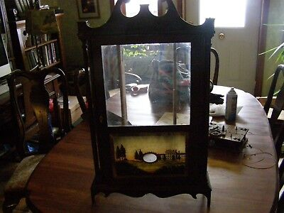 Early 1800's  woodworks clock estate find  needs work, fix or parts ,Randolph NY