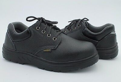 Men Working Safety Black Faux Leather Size 9.5