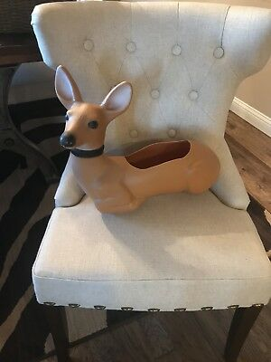 Vintage 1987 Union Products Plastic Blow Mold Deer, 6262 Fawn, 5344 Planter