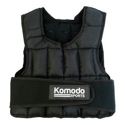 20KG Weighted Vest Optimise Workout Training Running Weight Loss Strength Black