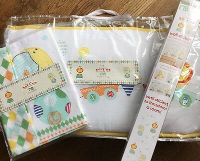 Mothercare Roll Up Roll Up Bed In A Bag For A Cot / Cotbed & Pockets, Stickers