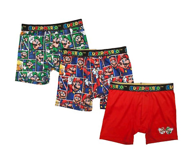 Boy's 3 Pack Super Mario Bros Boxer Briefs