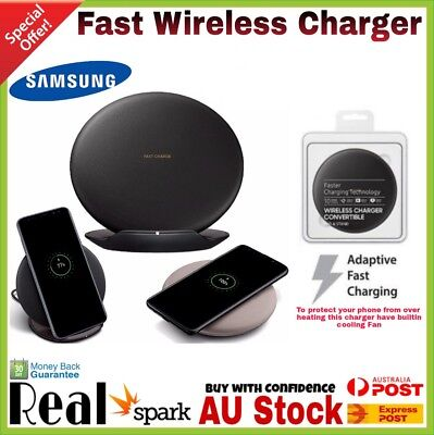 New Samsung Fast Wireless Charger Pad For Galaxy S7 S8 & S8 S9 Plus Note 8