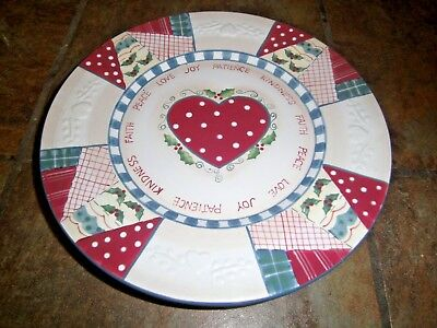 "Home Interiors ~ Heartwarming Holiday ~ 10½"" Dinner Plates, Set Of (4), Euc"