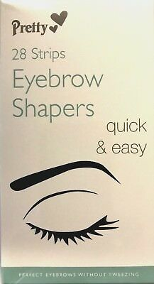 New Pack of 28 Pretty Smooth Eyebrow Shapers Wax Strips Perfect for waxing
