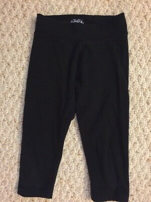 Justice Girls Size 7 Black Capri Leggings Cotton Blend GUC