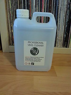 """1.5 L - VINYL RECORD CLEANING  FLUID +FREE 3 PLASTIC RECORD SLEEVES 12"""" ..knosti"""