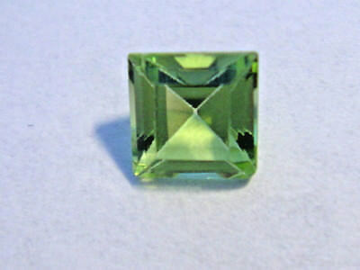 Peridot Princess Cut 5 mm x 5 mm Gemstone 0.75 Carats Natural Gem