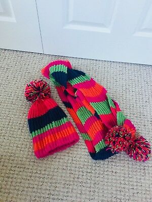 Next Hat And Scarf Set Multicoloured Stripe