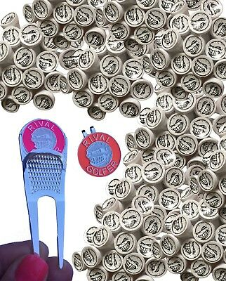 Rival Golfer - 'Electric Pack' - 100 tees, divot tool + hat clip (PINK & PEACH)