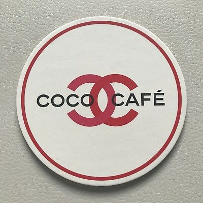 ONE RARE Authentic CHANEL Coco Cafe Paper Cork Coaster Drink Mat Collectible LE